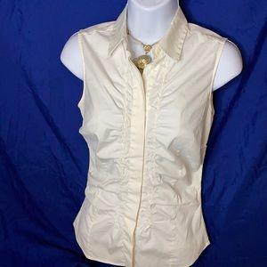 Lovely PRADA vintage ladies winter white blouse